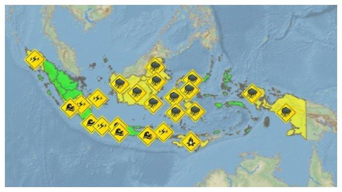 Peringatan Dini BMKG Minggu, 5 Juli 2020: Waspada Cuaca Ekstrem di Sejumlah Wilayah