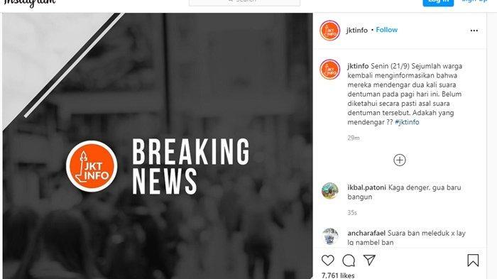 Terdengar Suara Dentuman Misterius di Jakarta, BMKG: Bukan Gempa, Diduga Petir di Gunung Salak
